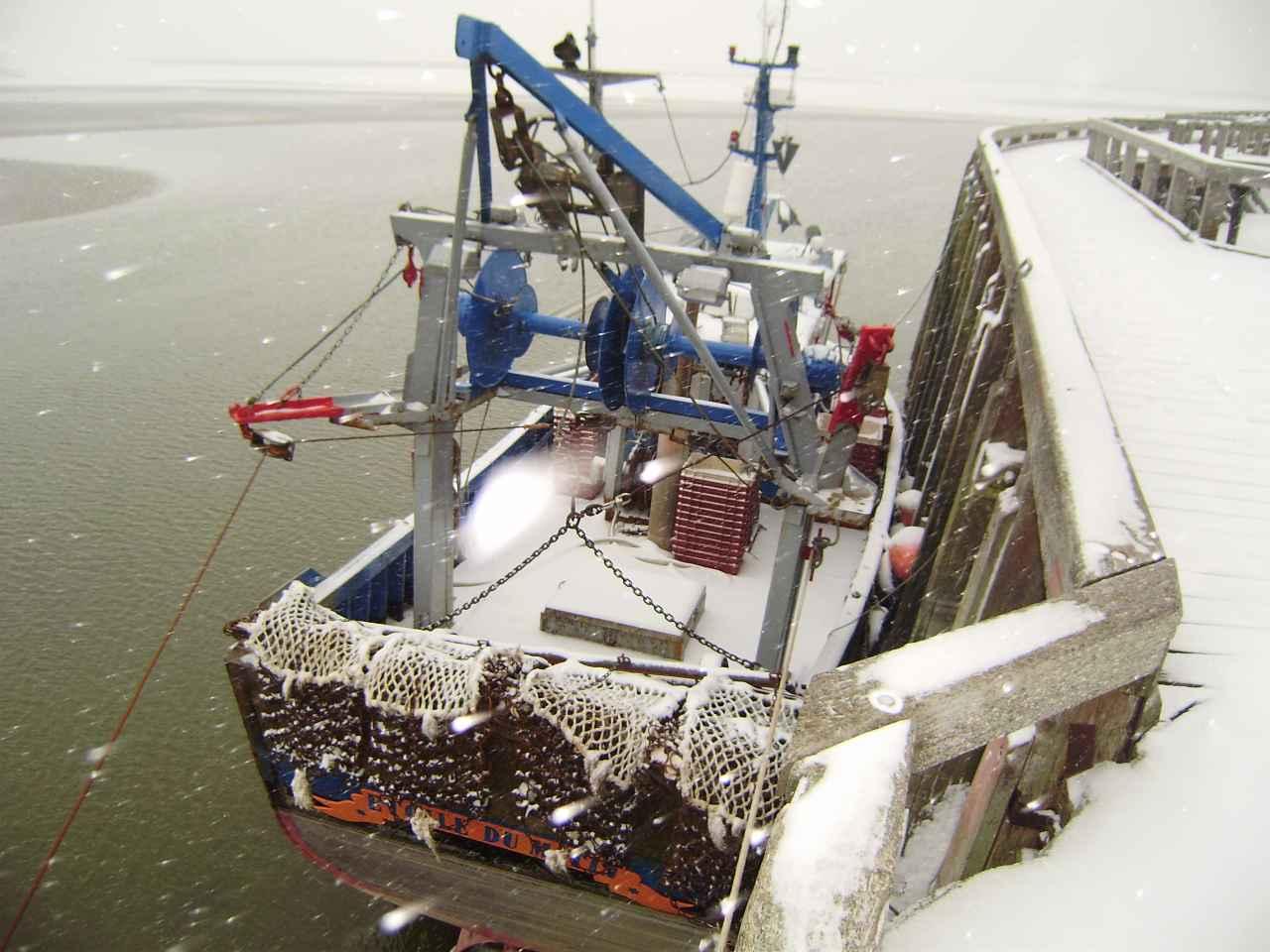 Chalutier au port janvier 2013