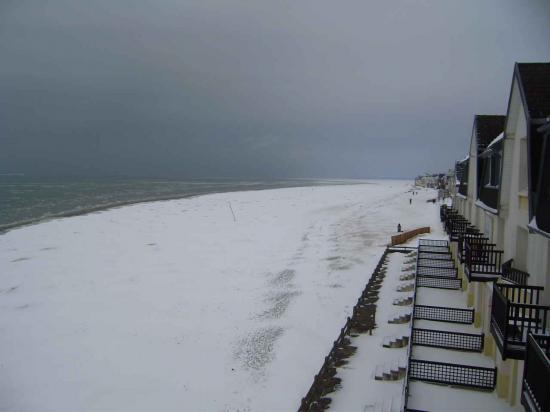 La neige sur la plage février 2012