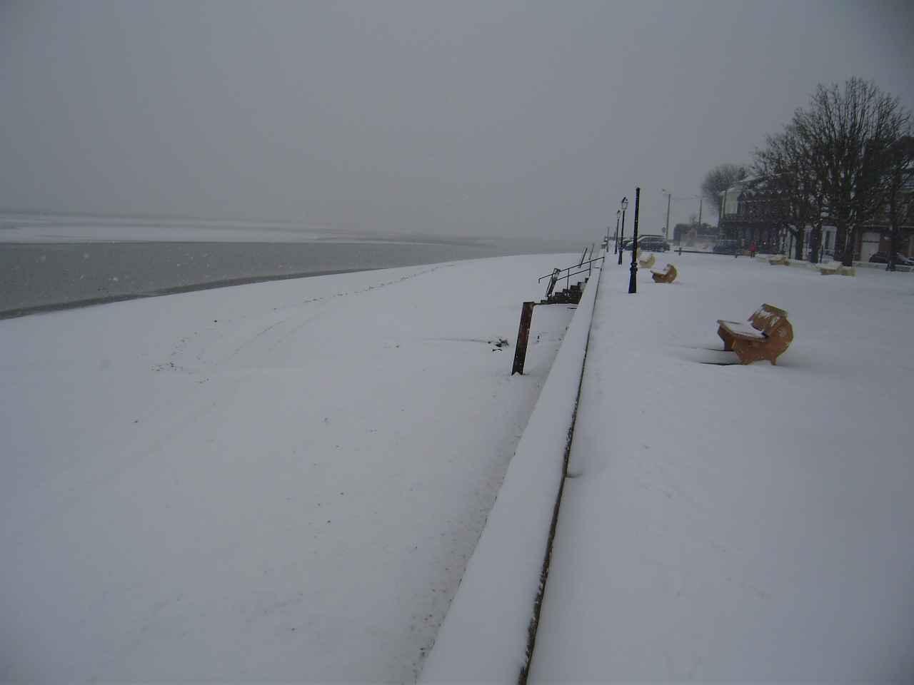 La neige sur la plage janvier 2013