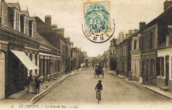 La rue de la Porte du Pont vers 1900