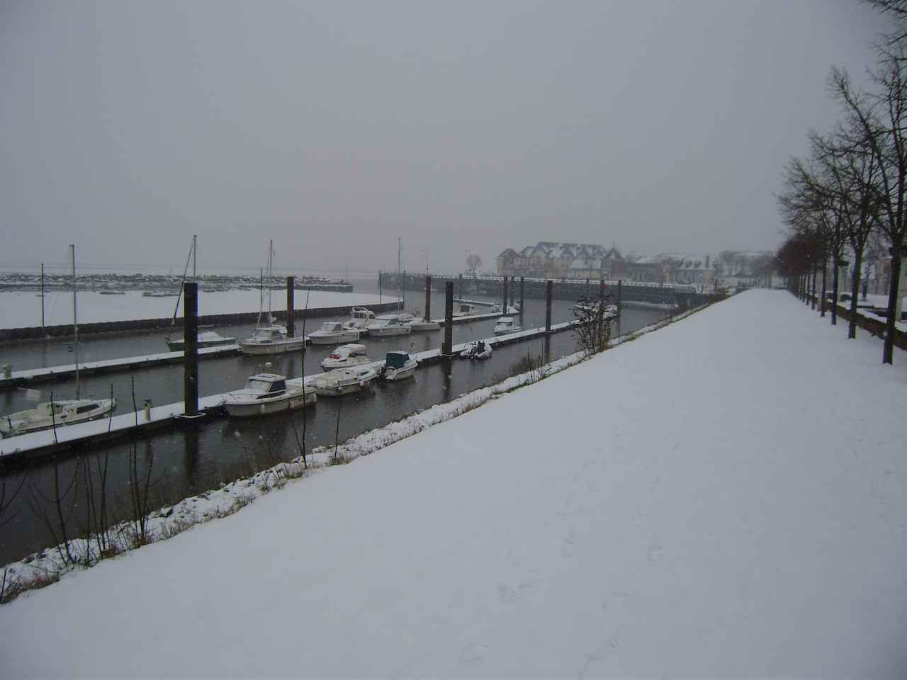 Promenade enneigée au Crotoy janvier 2013